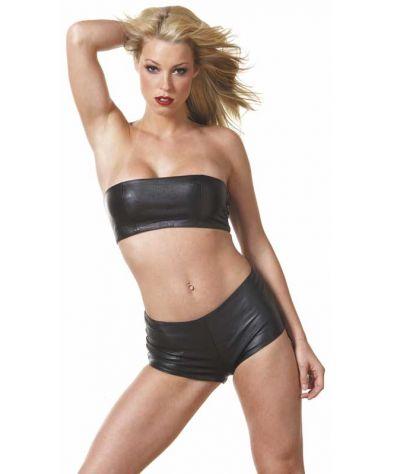 Allure lingerie AL15-100 Δερμάτινο sorts μαύρο