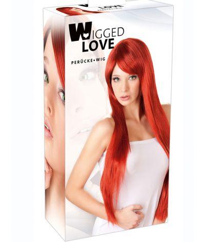 Long Straight Red Wig Περούκα  μακριά κόκκινη.